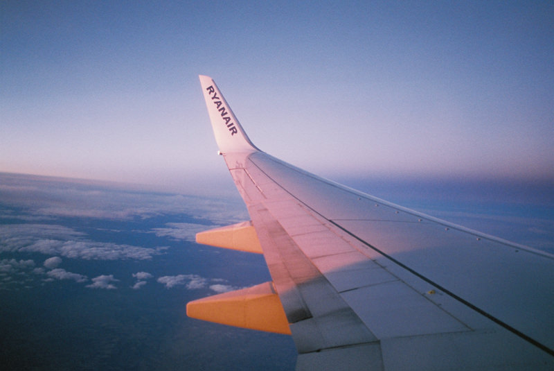 wingtip at sunrise