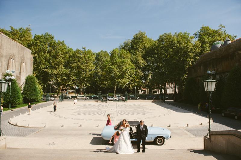 Porto wedding photographer - Ford Mustang
