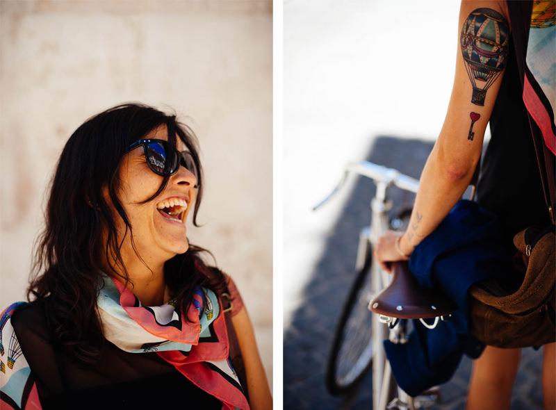 portrait of girl with balloon tatoo