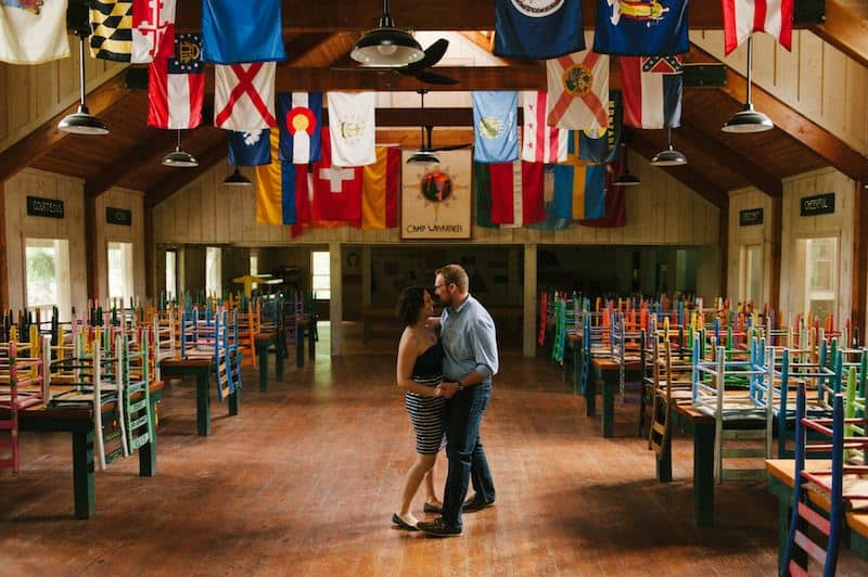 Couple dancing in North Carolina