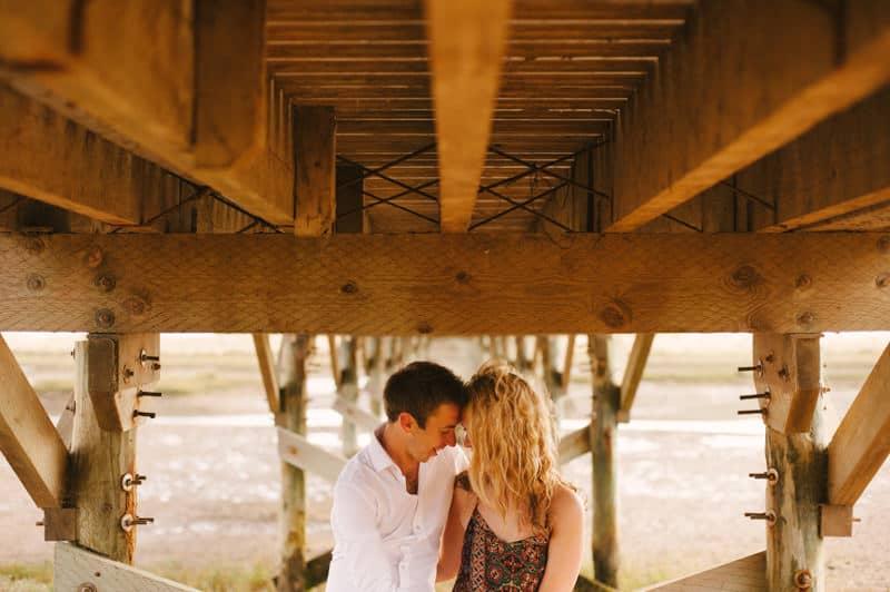 Romantic portrait under a bridge 2