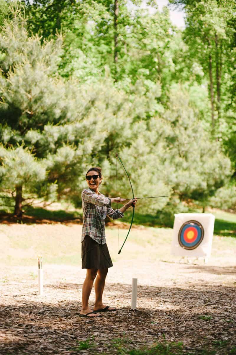 bow and arrow at camp wayfarer