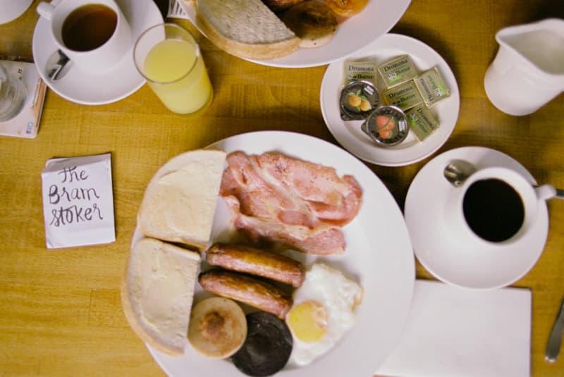 Traditional irish breakfast at the Bram Stoker