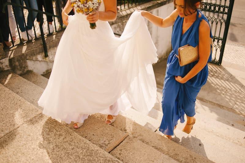 Chegada da noiva à igreja