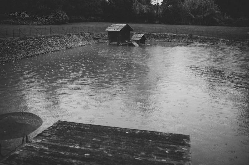 casamento com chuva