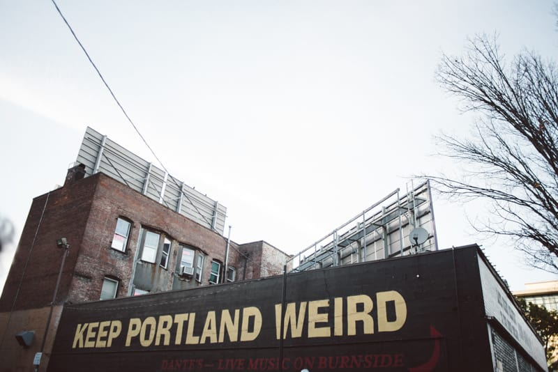 Keep Portland Weird sign
