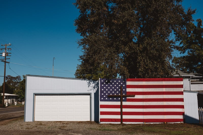 USA roadtrip - american flag