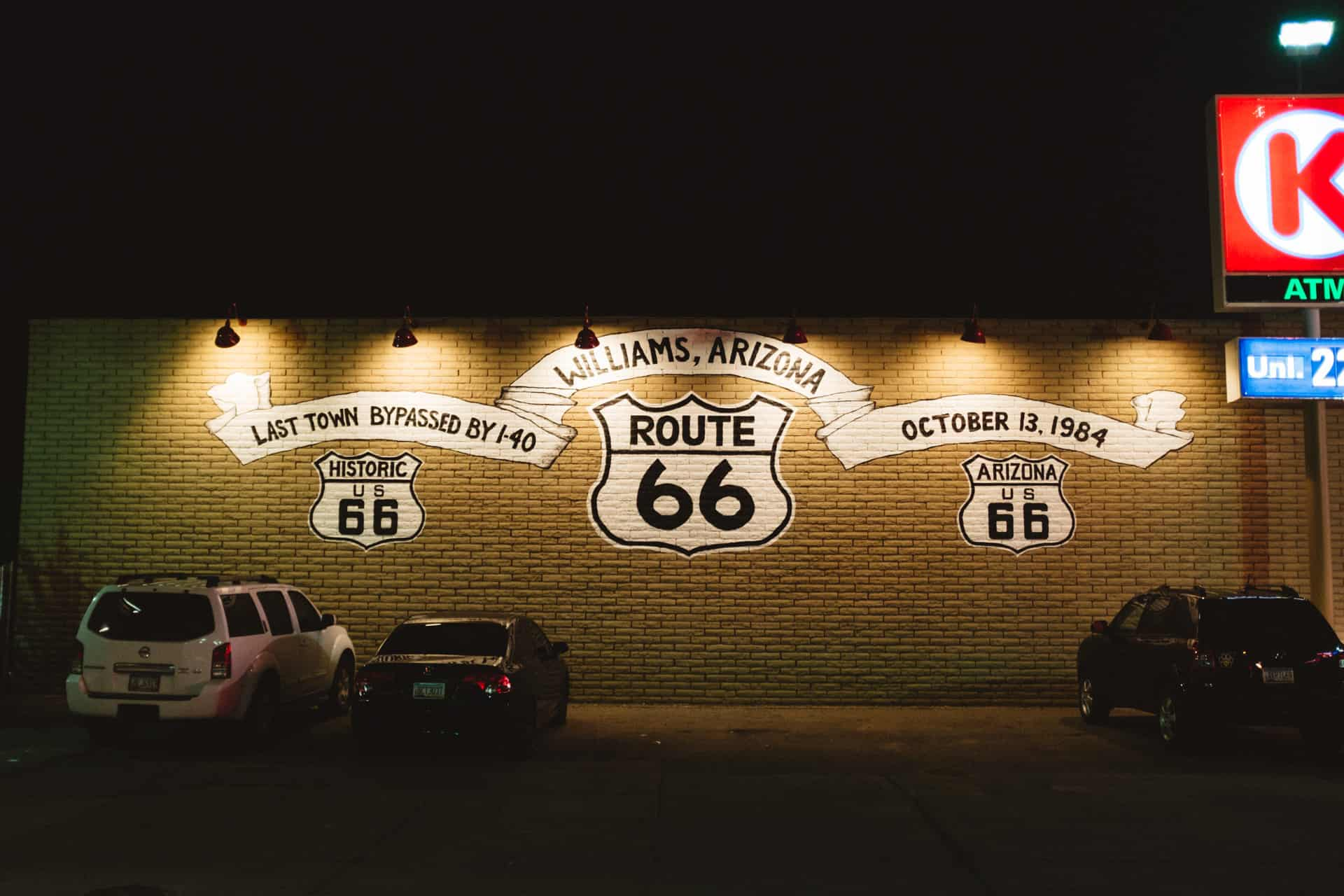 USA road trip route 66