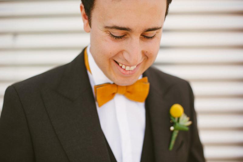 portrait of groom with bowtie