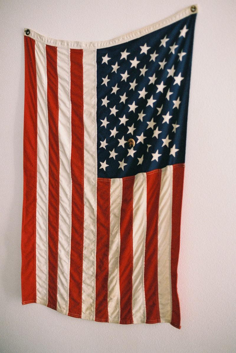 North Carolina wedding photographer - USA flag