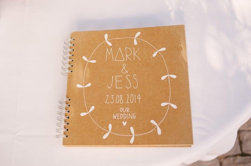 craft wedding signature book