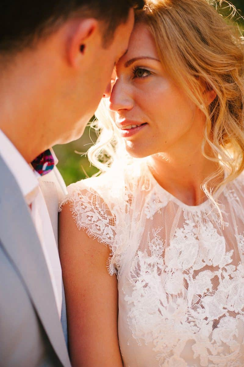 romantic portrait by Algarve wedding photographer