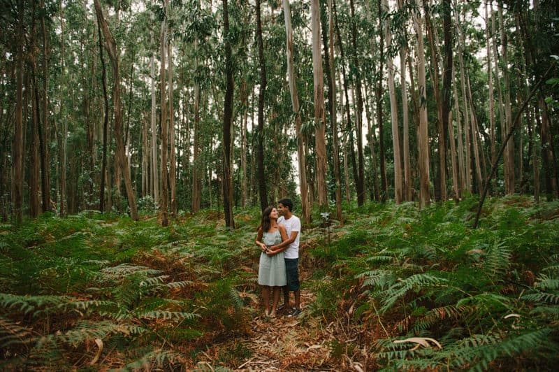 Shot of couple with ferns