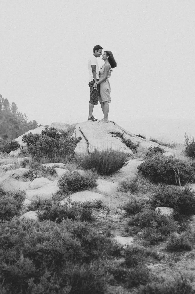 Black and white picture of Serra da Freita