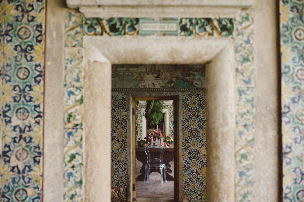 many door and granite details at quinta da bacalhoa wedding venue