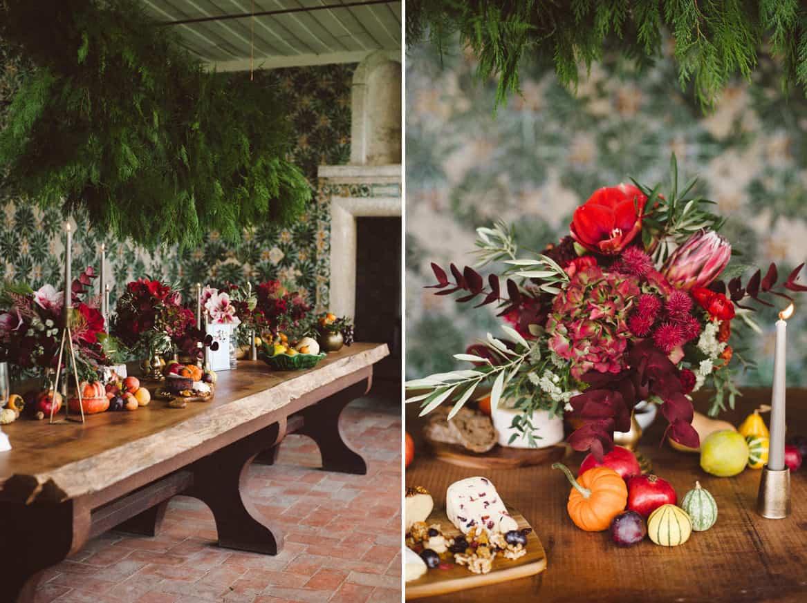 autumn colors for a wedding at Quinta da Bacalhoa