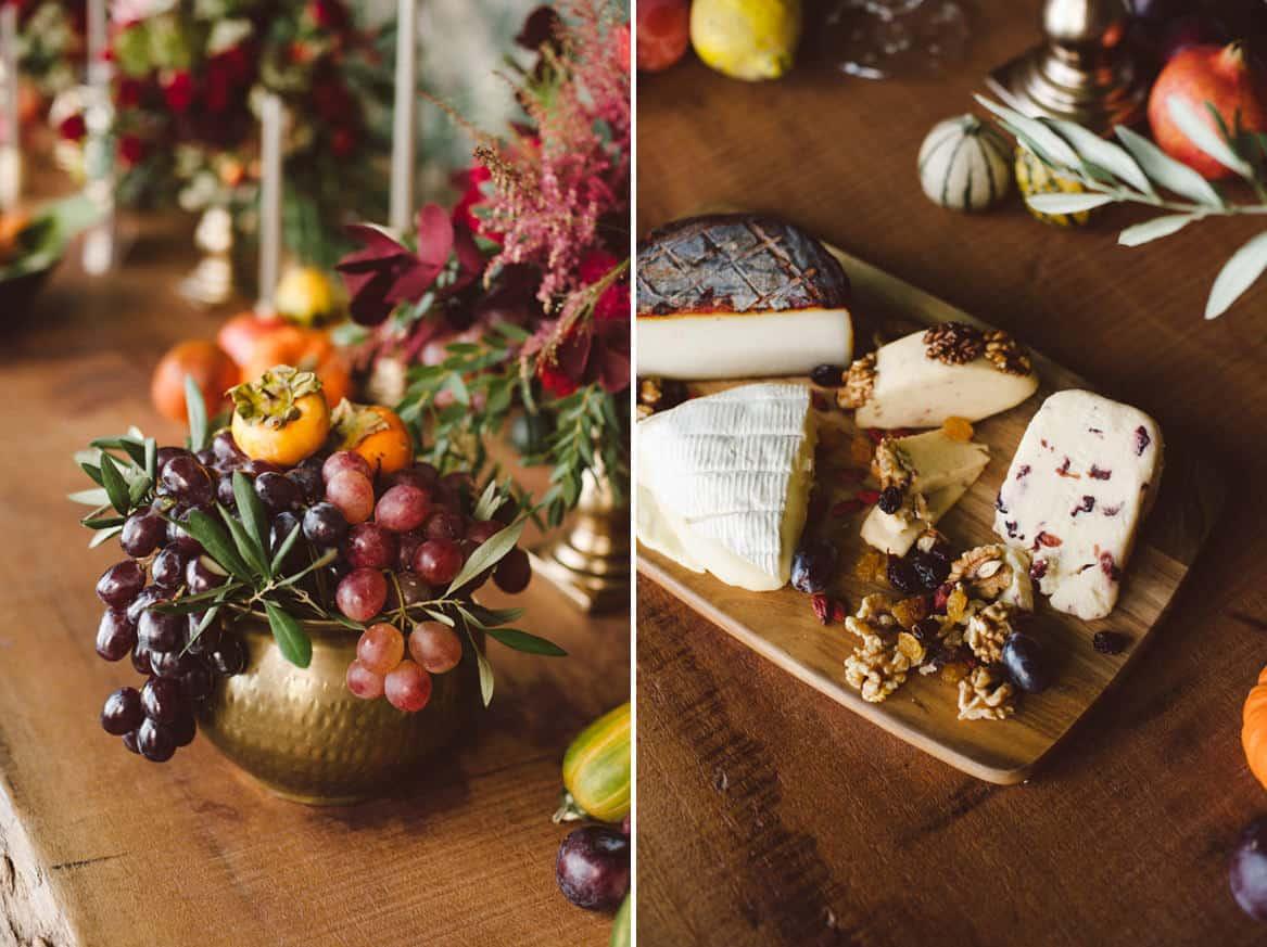 cheese platter at quinta da bacalhoa wedding