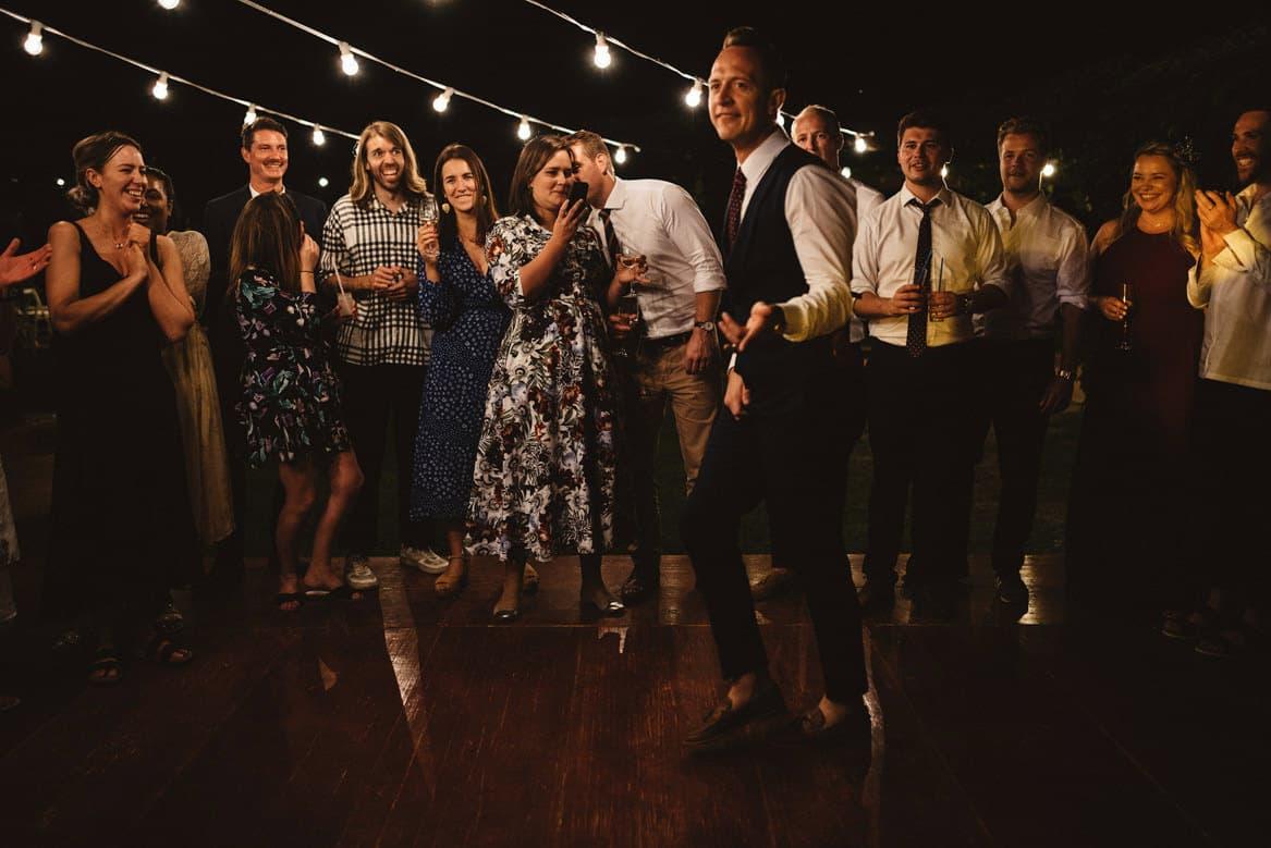 dance floor at villa di ulignano wedding