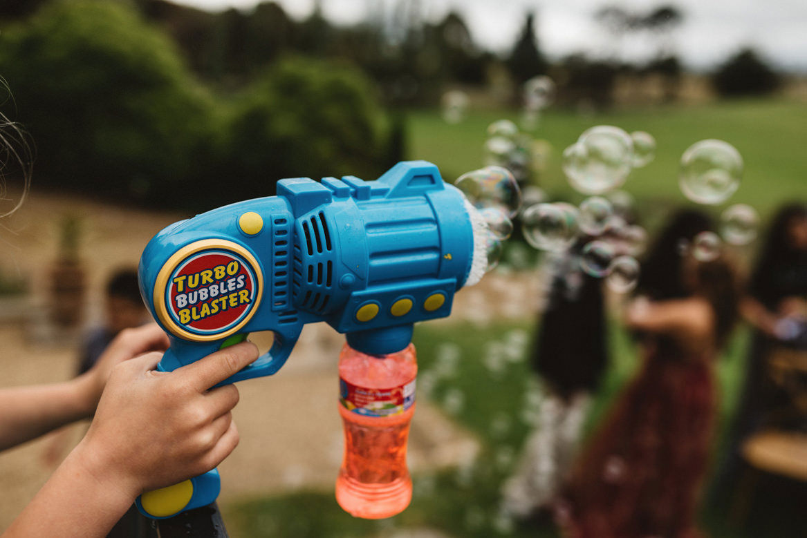 tasmania wedding photographer turbo bubbles blaster