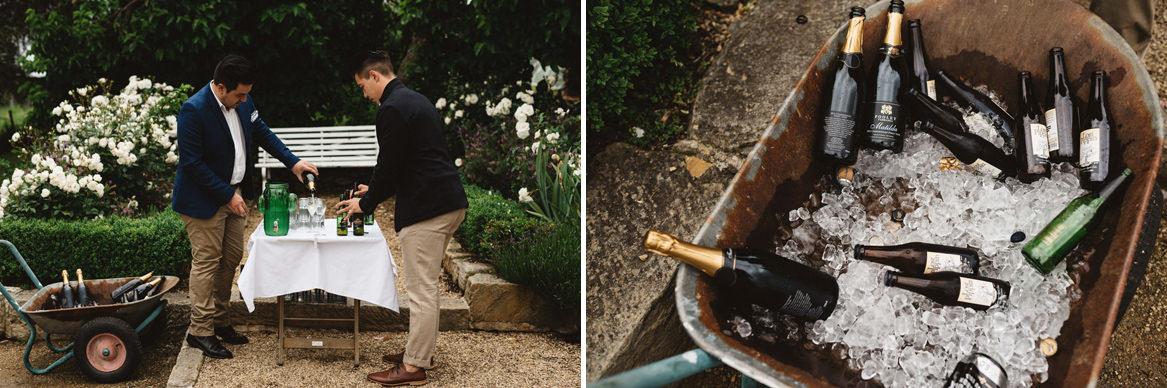 tasmania wedding photographer drinks in ice bucket