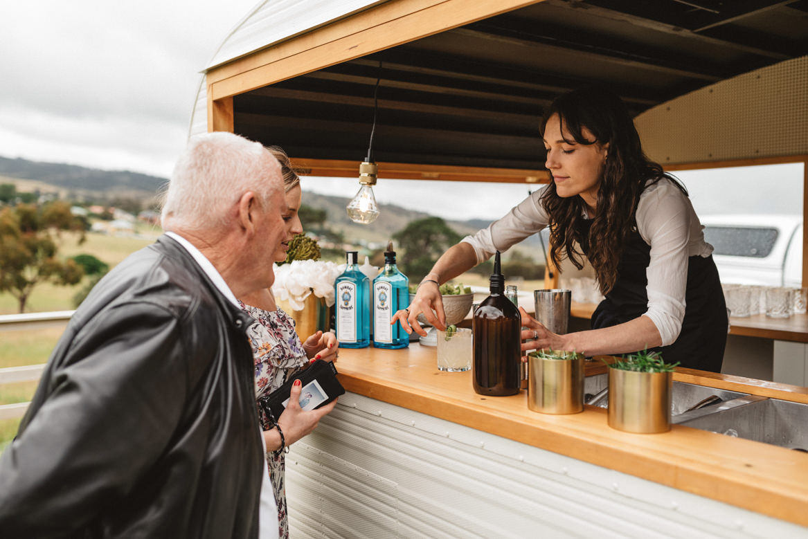tasmania wedding photographer pooley wines gin truck bombay