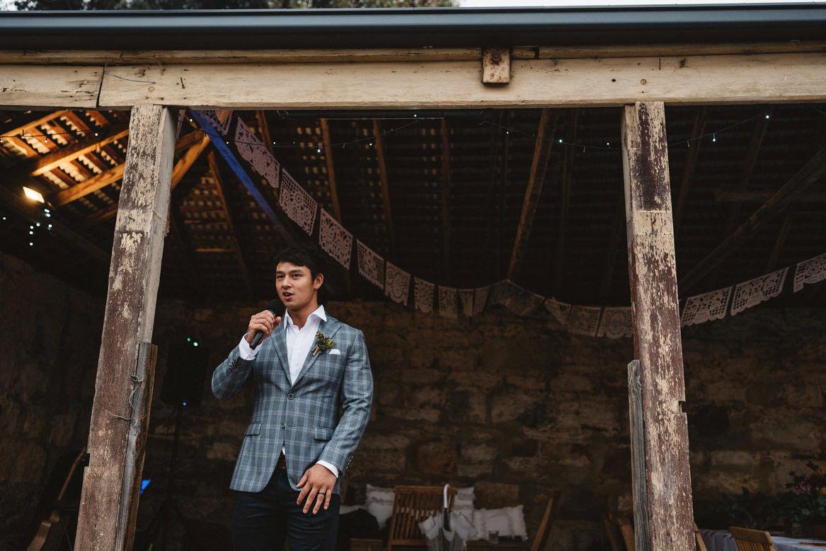 Tasmania wedding photographer best man speech