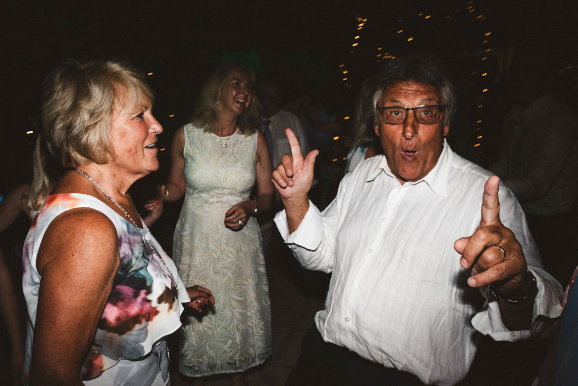 guests dancing and making funny faces during casa rupi wedding