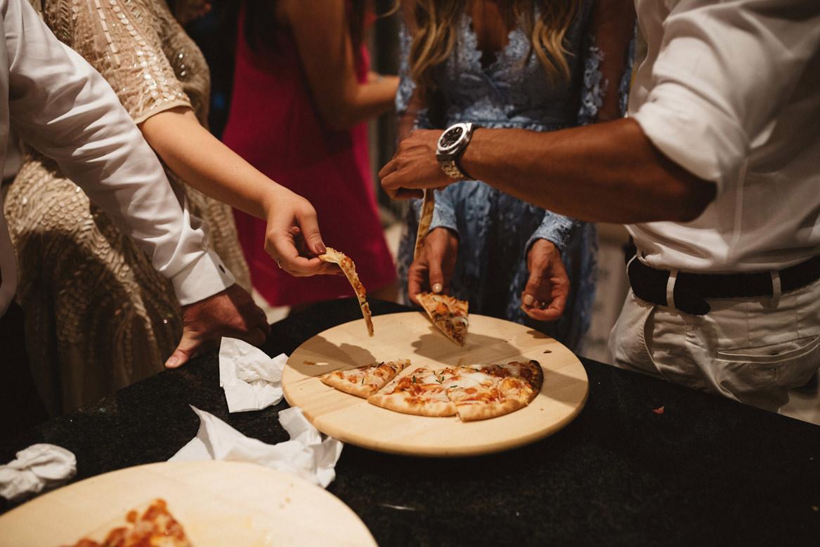 late night pizza during casa rupi wedding
