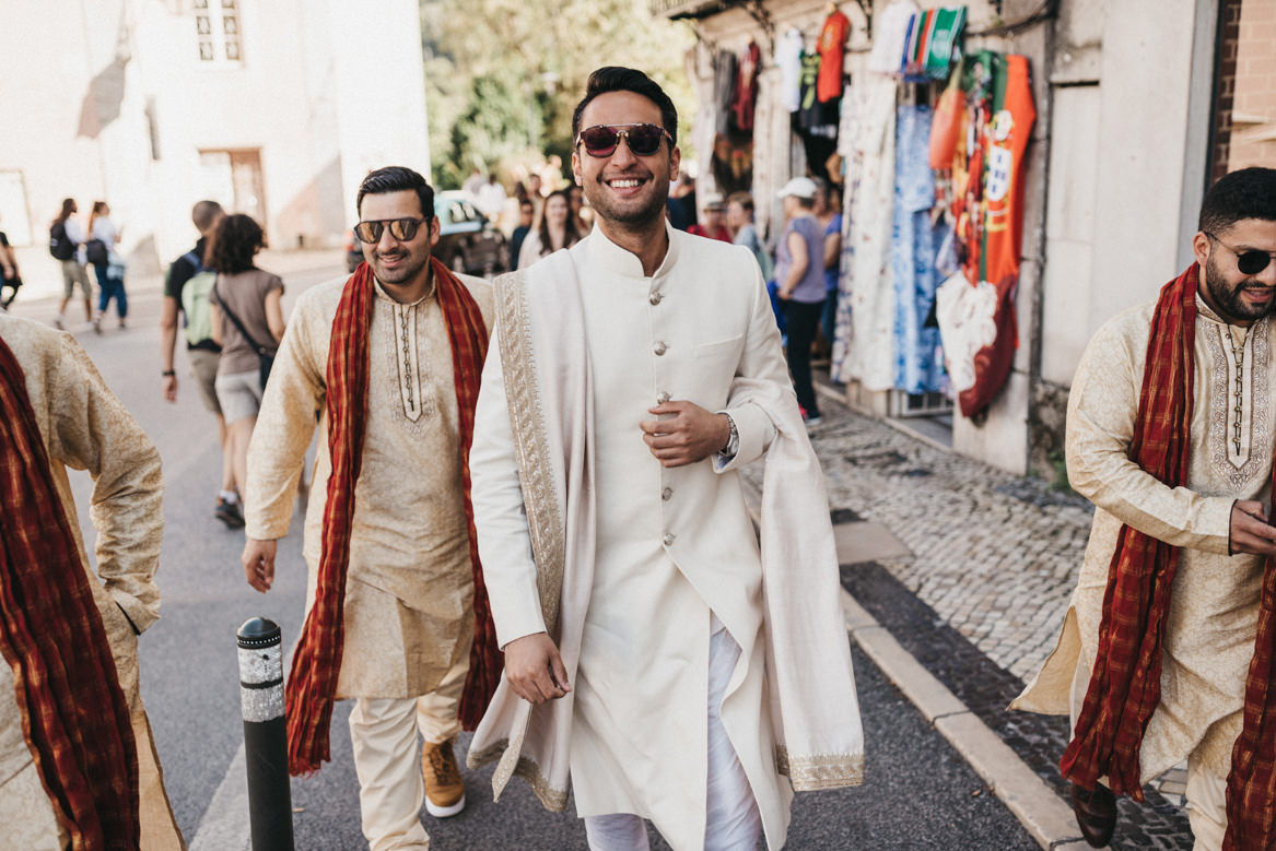Indian wedding procession in Sintra