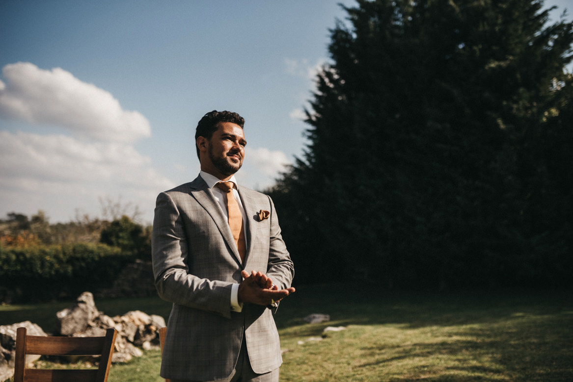 Groom waits for bride